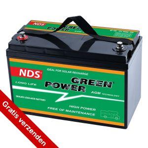 NDS GREENPOWER Service Accu AGM 12V 100Ah GP 100