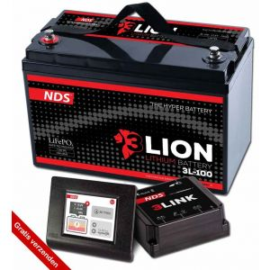 NDS 3LIONSYSTEM Lithium Accu 12V-100Ah + 3LINK 100A 3L-100