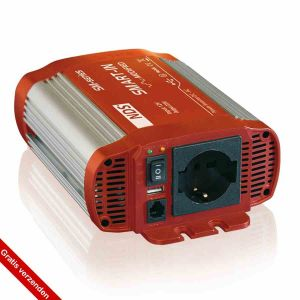 NDS SP400-12 Omvormer 12VDC>230VAC+5VUSB,400W Pure Sinus