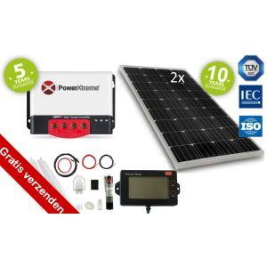 Power XS20s Solar Zonnepaneel MPPT 200W display Set (Onze meest complete set)